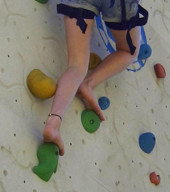 Turnen barfuß Robuste Füße